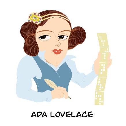 Dibujo de Ada Lovelace